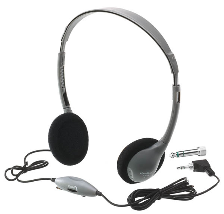 SchoolMate Personal Mono-Stereo Headphone with in-line Volume