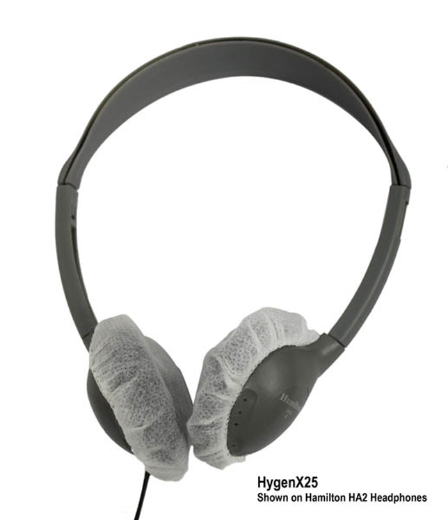HygenX Sanitary Headphone Covers for On-Ear Headsets - 50 Pair