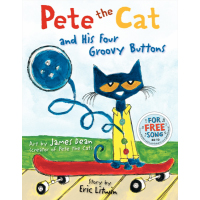 Pete the Cat and His Four Groovy Buttons Hardcover Book
