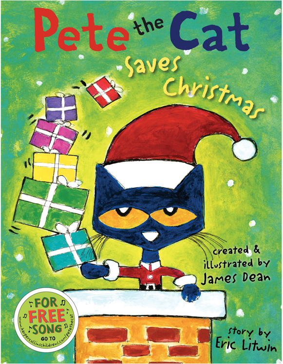Harper Collins Pete the Cat Saves Christmas Book