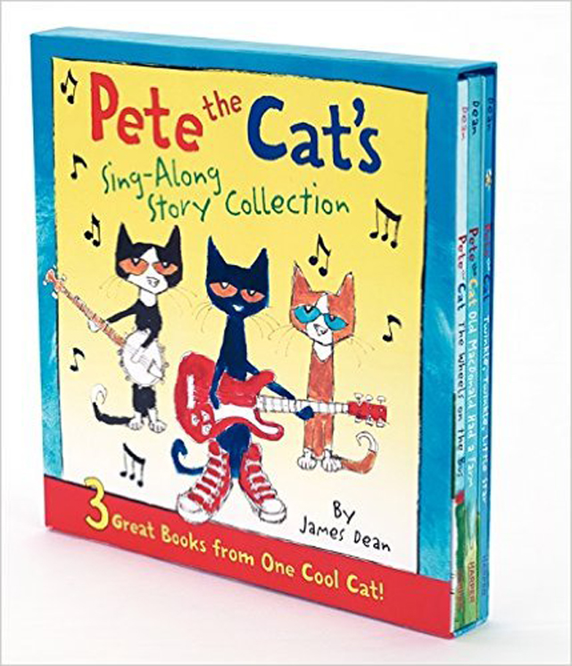 Pete the Cat's Sing-Along Story Collection, 3 Great Hardcover books from One Cool Cat