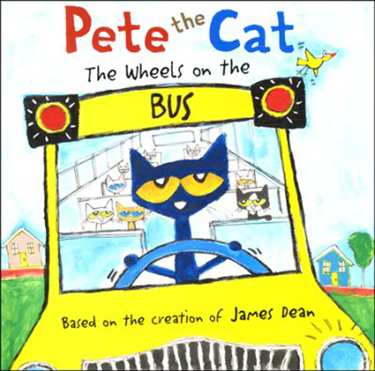 Pete the Cat: The Wheels on the Bus - Board Book