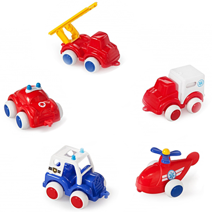 Viking Chubbies Rescue Vehicle - Set of 5