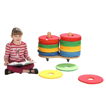 Kalocolor Donut Cushions and Donut Cart Set of 32