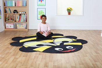 Back to Nature Giant Bee Shaped Indoor Carpet
