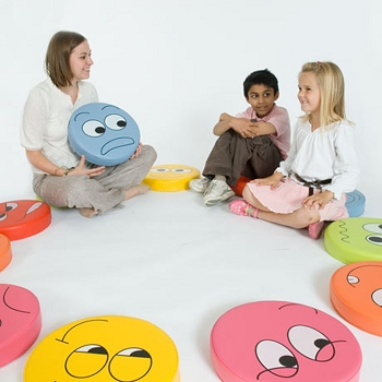 English Emotions Floor Cushions Pack 2 - Set of 6