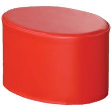 Kalocolor Modular Seating Ottoman - Poppy Red