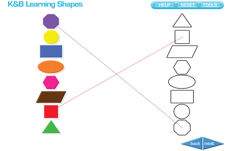 Interactive White Board Software Program, Learning Shapes with Spanish