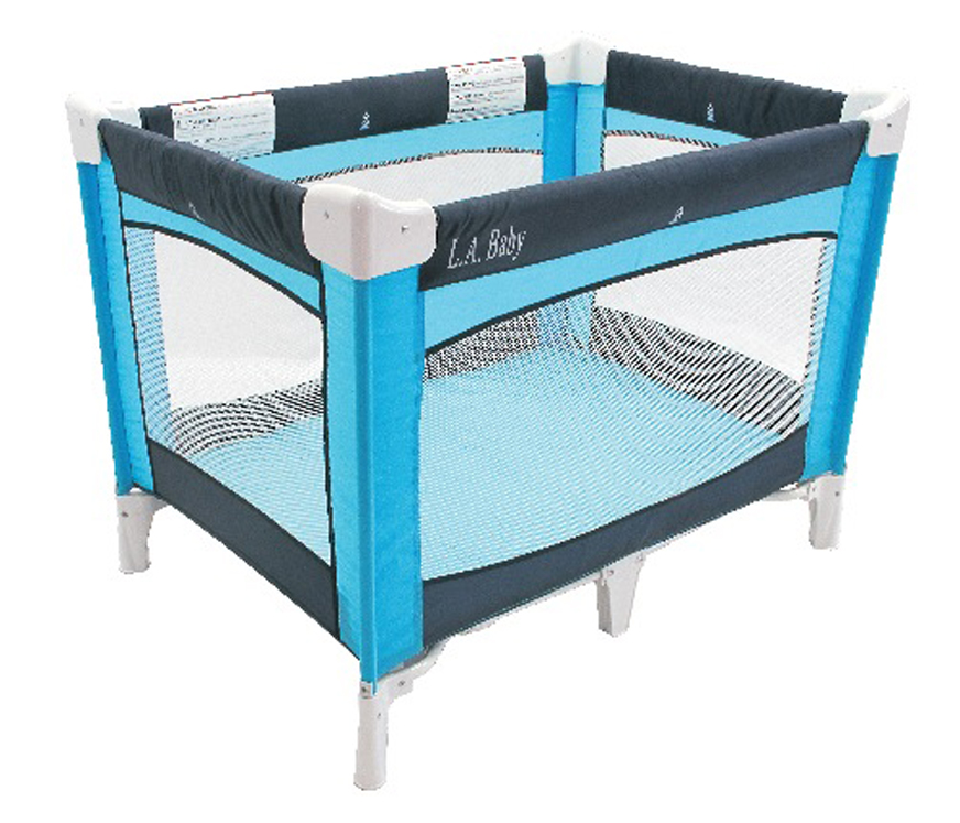 Navy Turquoise Play Yard