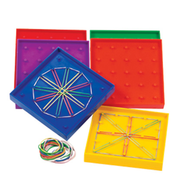 Double-Sided Rainbow Geoboards