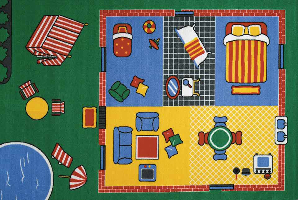 Let's Play House Play Carpet, 36''w x 52''l