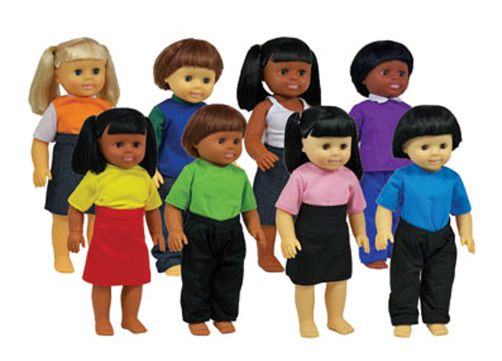 Multicultural Dolls - Set of all 8