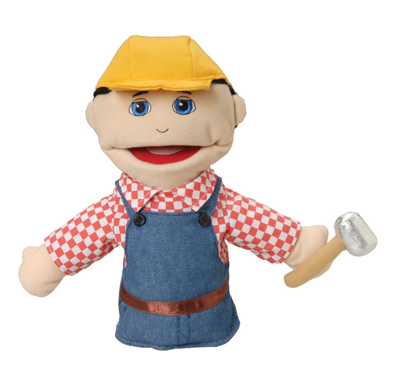 Multi-Ethnic Career Puppet, Construction Worker