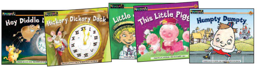 Rising Readers Leveled Books, Nursery Rhyme Tales, Complete Set Vol. 3, Levels A-I