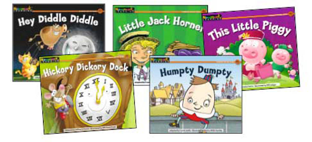 Rising Readers Leveled Books, Nursery Rhyme Songs & Stories, 12 Titles