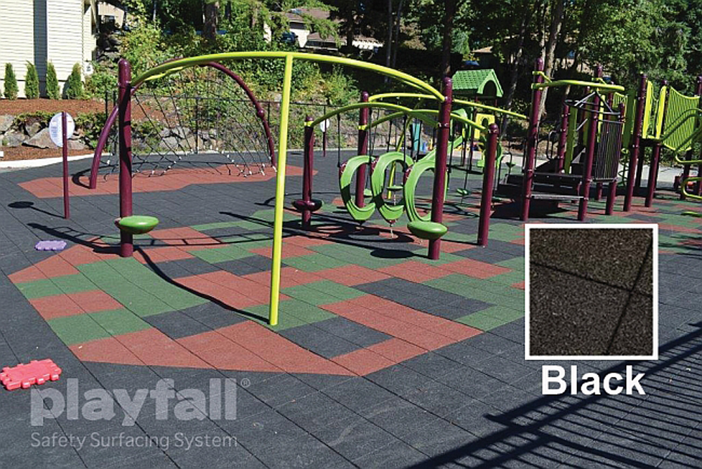 Playground Safety Surfacing Tiles, 2' x 2' - Multiple Colors