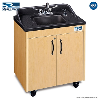 Lil Premier Child Size Hot Water Portable Sink with Plastic Basin