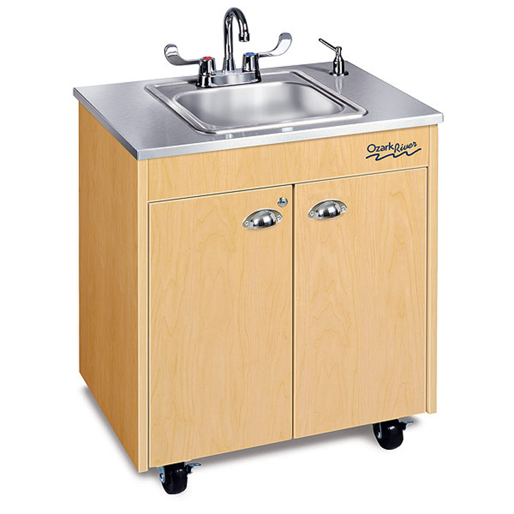 Lil Premier Child Size Silver Hot Water Portable Sink