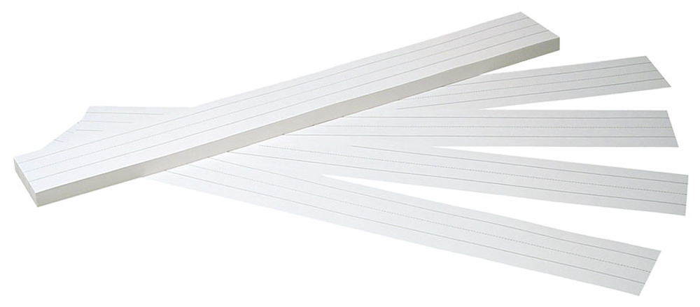 Sentence Strips, White, Ruled, 3