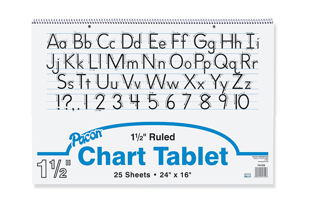 Chart Tablet, Ruled, 1-1/2