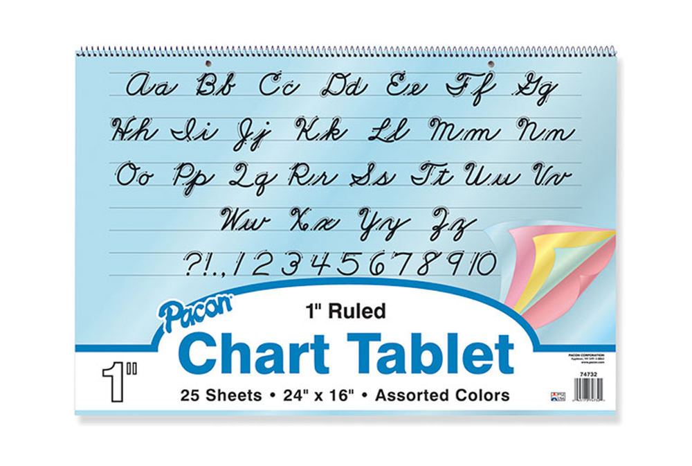 Colored Paper Chart Tablets, 1
