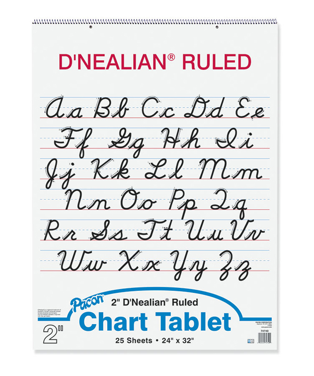 Nealian Chart Tablets, Ruled, Cursive Cover 2