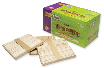 Regular Craft Sticks: Natural - 1,000 Count