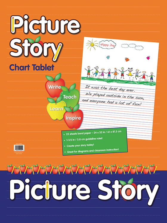 Pacon Picture Story Chart Tablet, 24