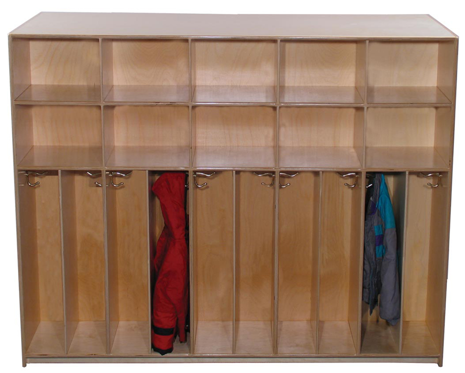 Mainstream Preschool Divided Lockers with Cubbies for 10, 12''d x 48''h