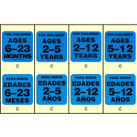 Age Group Labels (Specify English or Spanish)