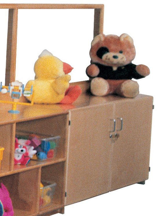 Deluxe Room Divider with 24''h Teacher's Cabinet