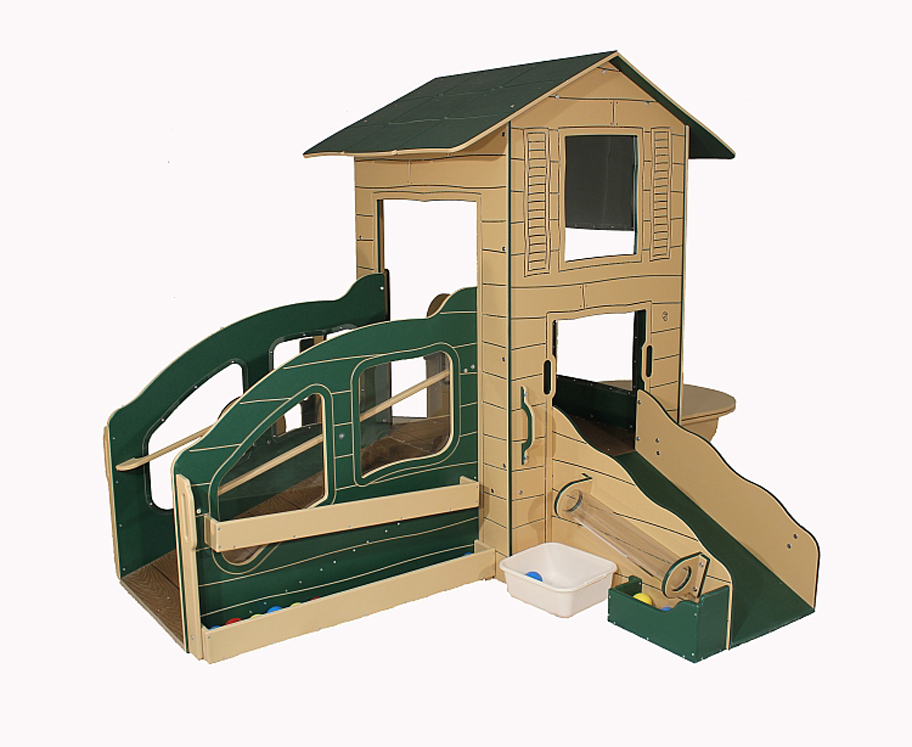 Infant Toddler Cottage Playstation 4 Outdoor Playground   Natural