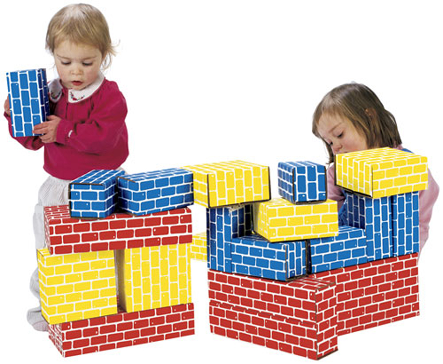 ImagiBricks Giant Building Blocks, 16 Piece Set