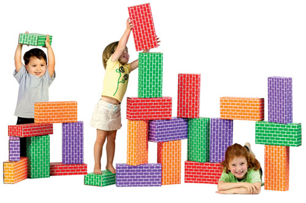 ImagiBricks Giant Rainbow Blocks, 24-Piece Set