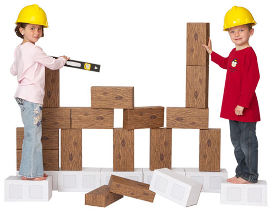 ImagiBricks Giant Construction Blocks, 24-Piece Set