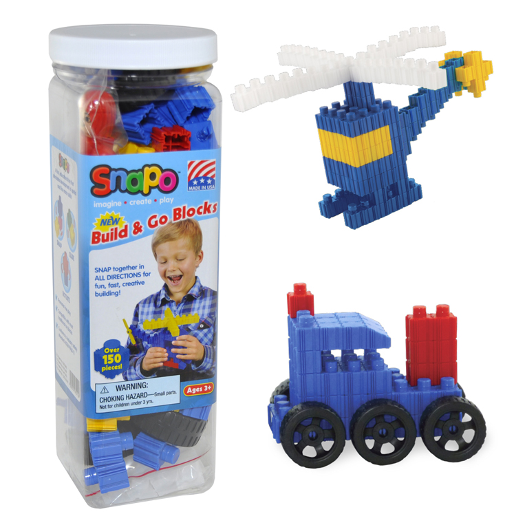 Snapo Build & Go - Over 150 Pieces