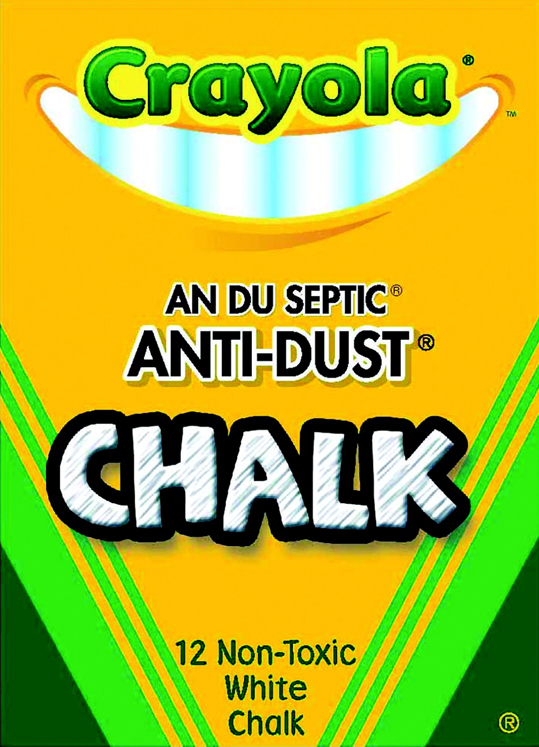 Crayola Anti-Dust Non-Toxic Chalkboard Chalk, White - Pack of 12