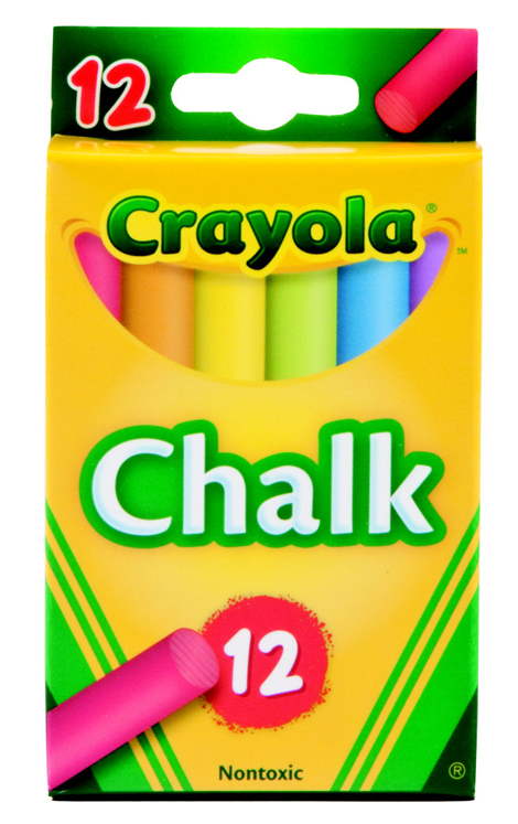Crayola Non-Toxic Colored Chalk - Assorted Color, for Use with Lecture Presentations - Pack of 12
