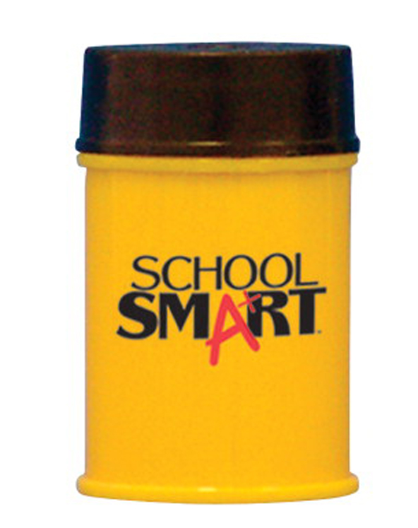 School Smart 2-Hole Metal Barrel Sharpener for Regular and Oversized Pencil