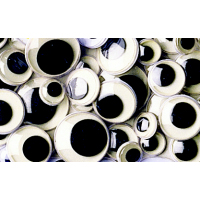 Chenille Kraft Round Wiggle Eye, Black on White - Pack of 100