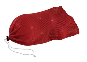 Heavy Duty Light-Weight Mesh Storage Bag, Polyester, Red