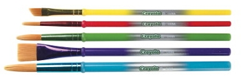 Crayola Round Synthetic Paint Brush Set, Assorted Size, Assorted Color - Set of 5
