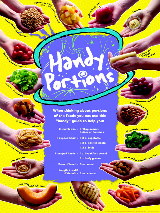 Learning ZoneXpress Handy Portions Poster - Laminated - 18