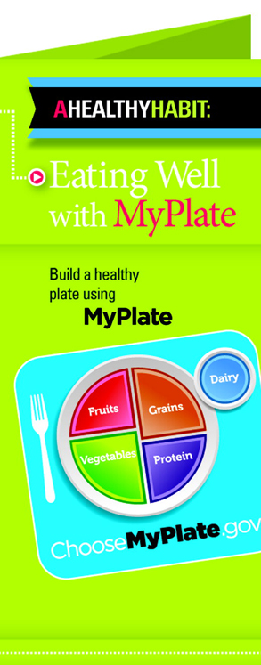 Learning ZoneXpress Brochures - Eating Well With MyPlate Tri-fold - Pack of 50
