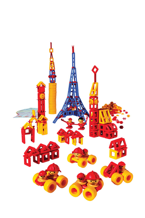 Mobilo Construction Set with Large Wheels