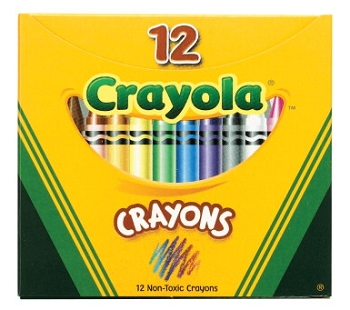 Crayola Non-Toxic Crayon in Tuck Box, Assorted Color, Pack of 12