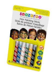 Snazaroo Face Painting Stick Set, Assorted Color - Set of 6
