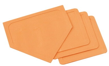 Throw-Down Bases and Home Plate, Orange - Set of 4