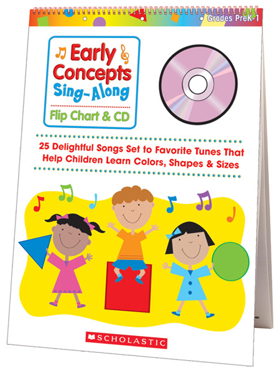 Sing-Along Flip Chart and CD - Early Concepts