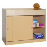 Changing Table with Sliding Doors